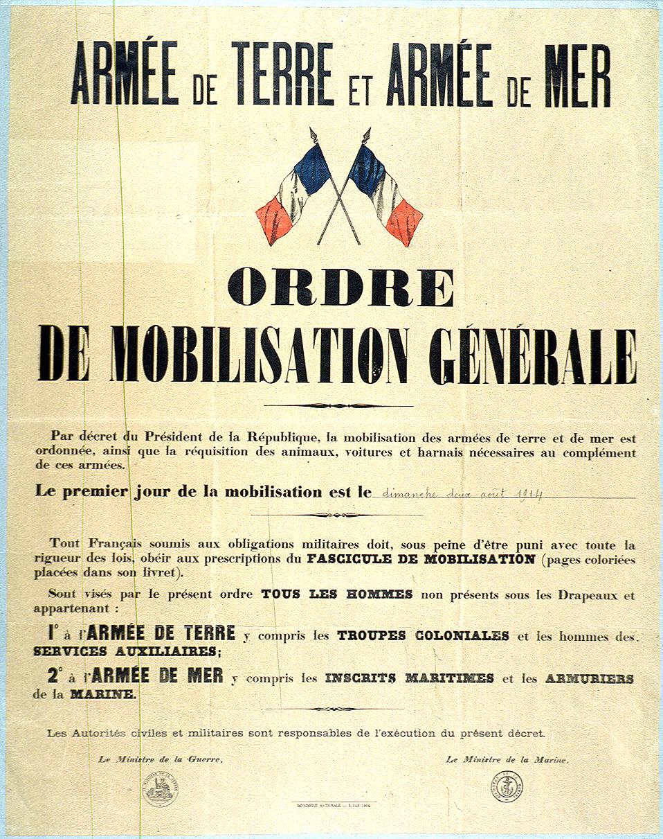 1. august 1914. kl. 16:30 – Frankrig mobiliserer!