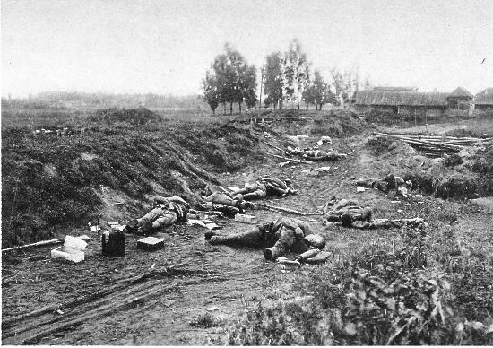 """12. september 1914. """"En kammerat begyndte at skyde løs på en flok fangne russere."""""""