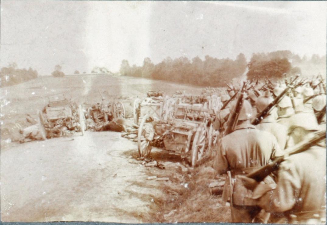 25. august 1914. 86'erne passerer grænsen til Frankrig
