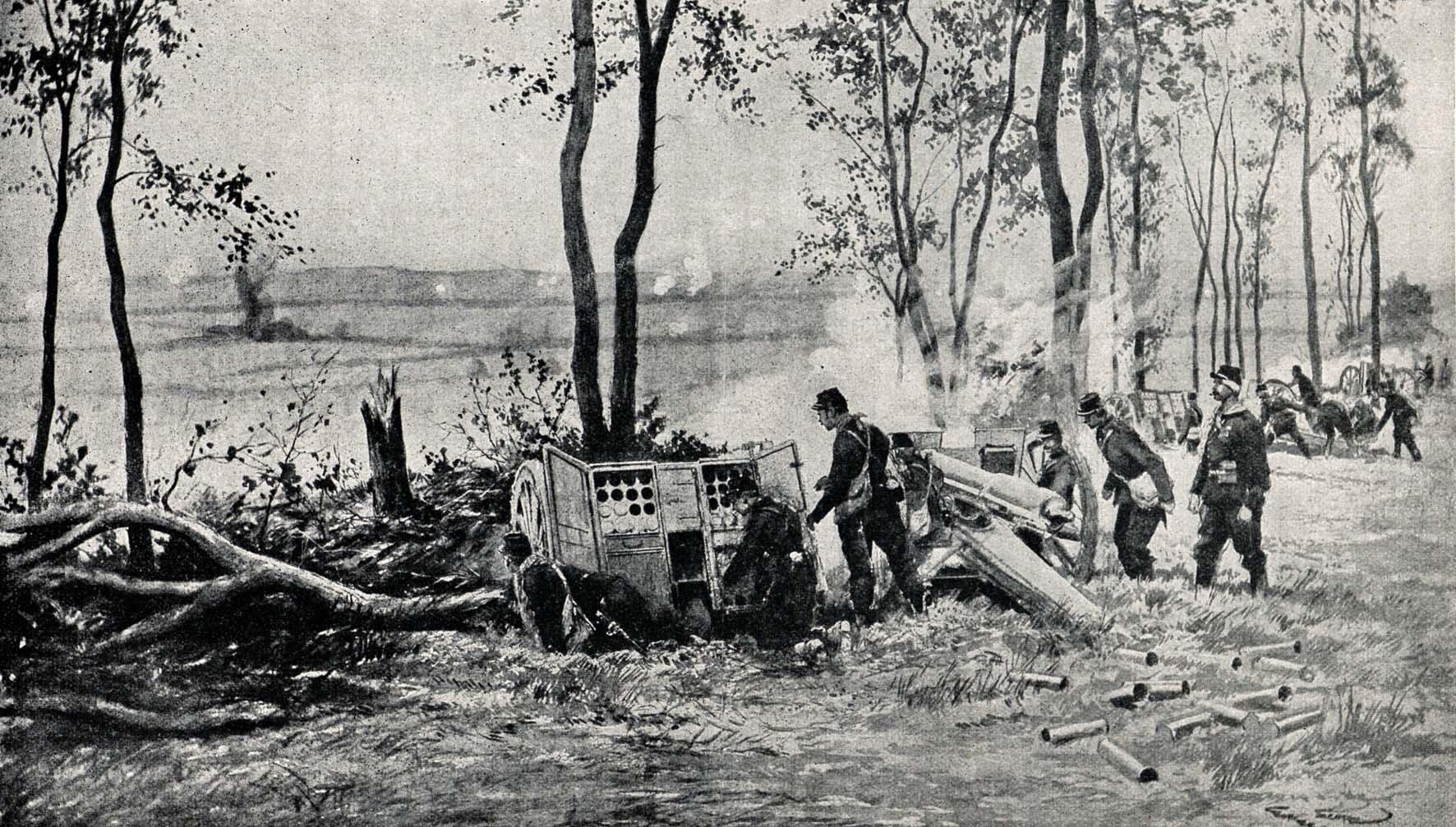"""22. marts 1917. """"De franske artilleri er så forunderligt uroligt."""""""