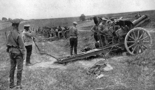 1. september 1916. Russiske fly samarbejder med artilleriet