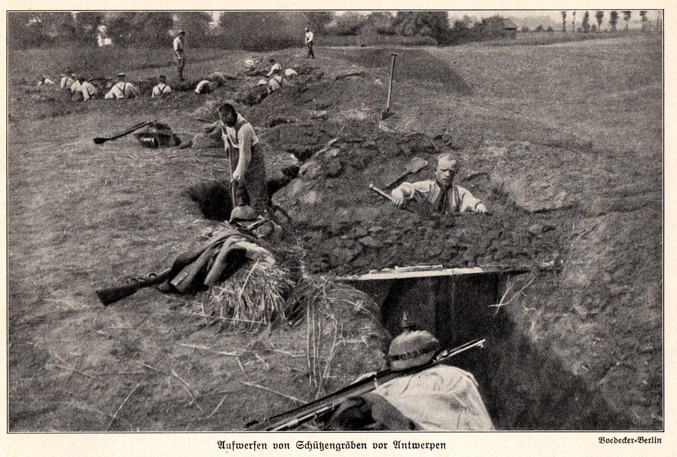 2. oktober 1914. Kadaverdisciplin i den preussiske hær: Bundet til et træ i ildlinjen!