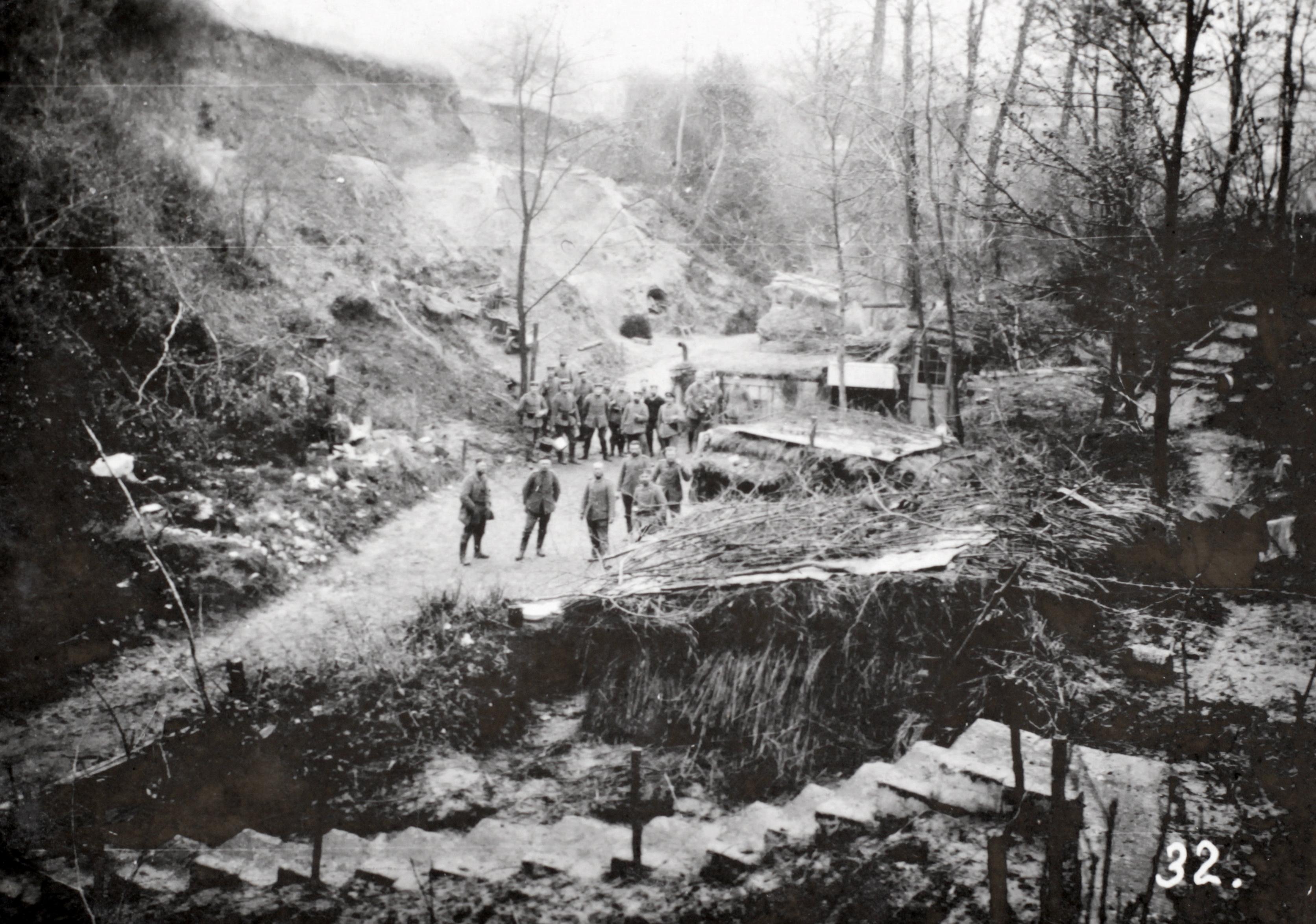 29. oktober 1914. Skyttegravene gøres dybere.