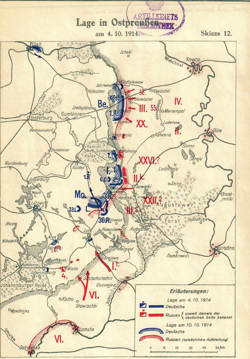 4. oktober 1914. Landwehr-Division Goltz skifter navn