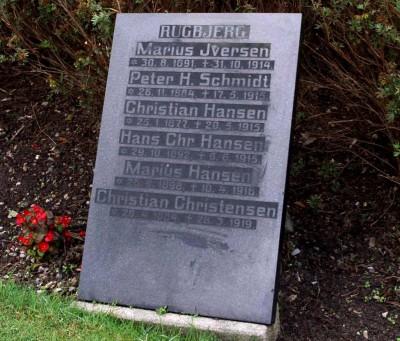 Mindesten, Øster Løgum Kirkegård