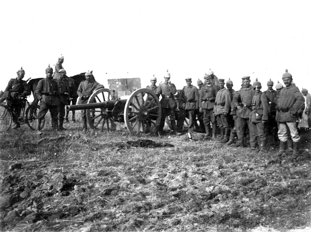 "22. november 1914. ""Den forreste russiske skyttegrav taget med storm."""