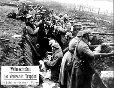 """24. december 1914. Østfronten: """"Den ene Julesalme fulgte efter den anden."""""""