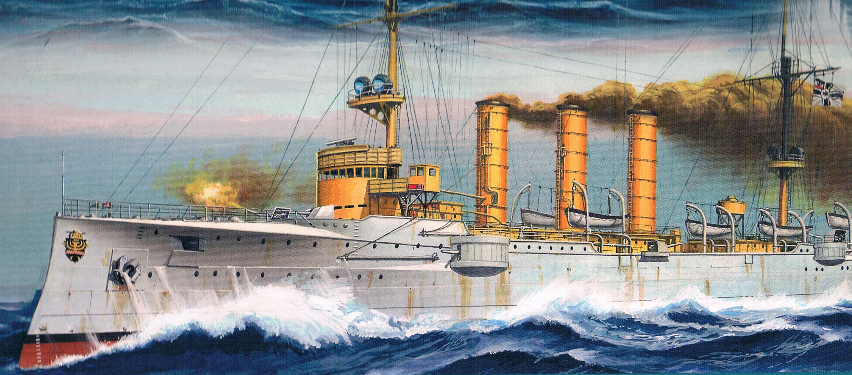 14. februar 1915. SMS Dresden atter i rum sø