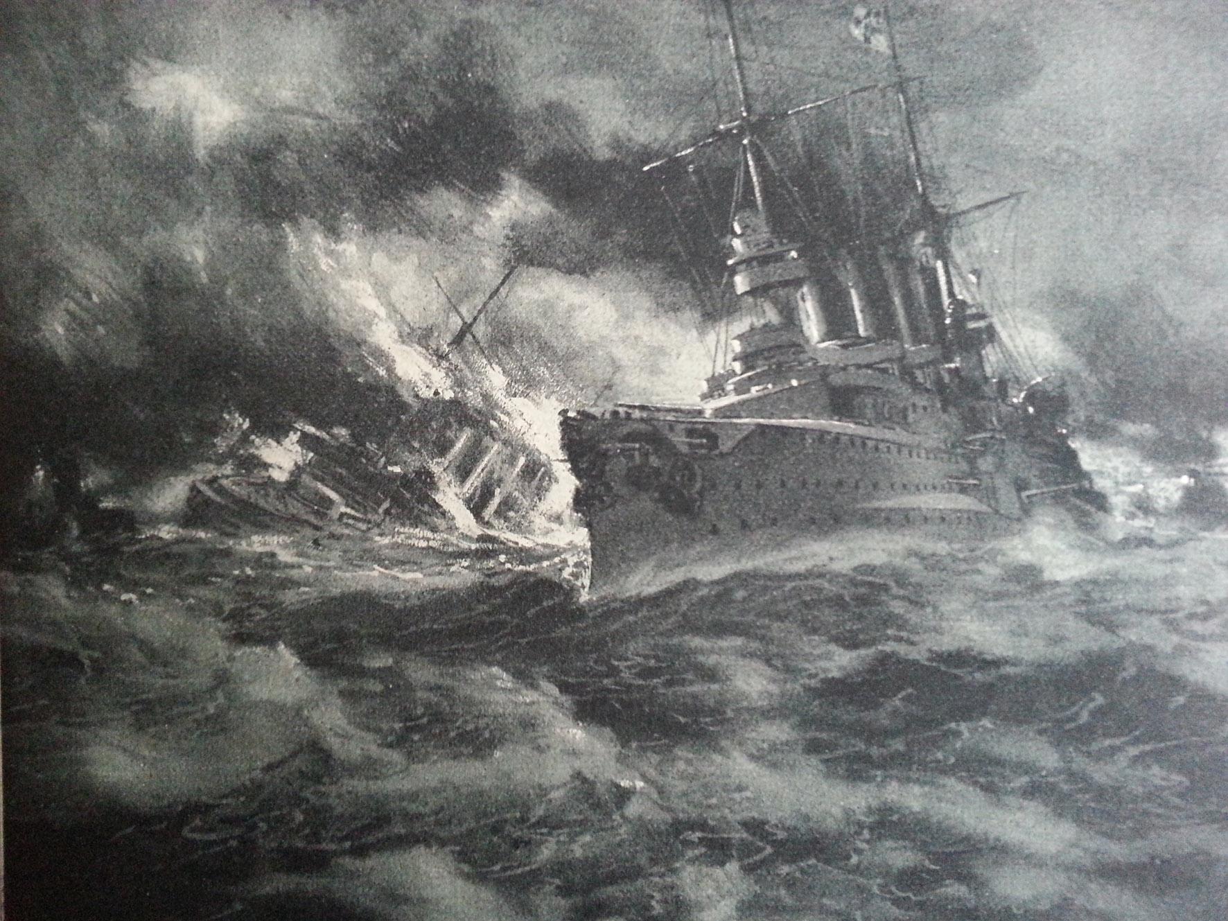 30. november 1914. Om bord på SMS Dresden: Orkan ved Kap Horn