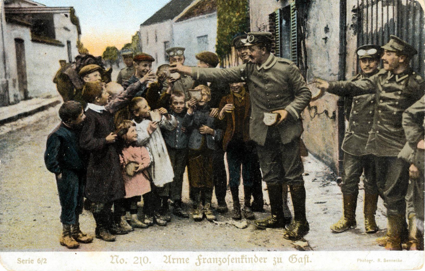 """13. december 1914. """"Armod og Elendighed her i Frankrig."""""""