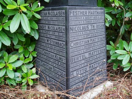 Mindesten, Abild Kirkegård