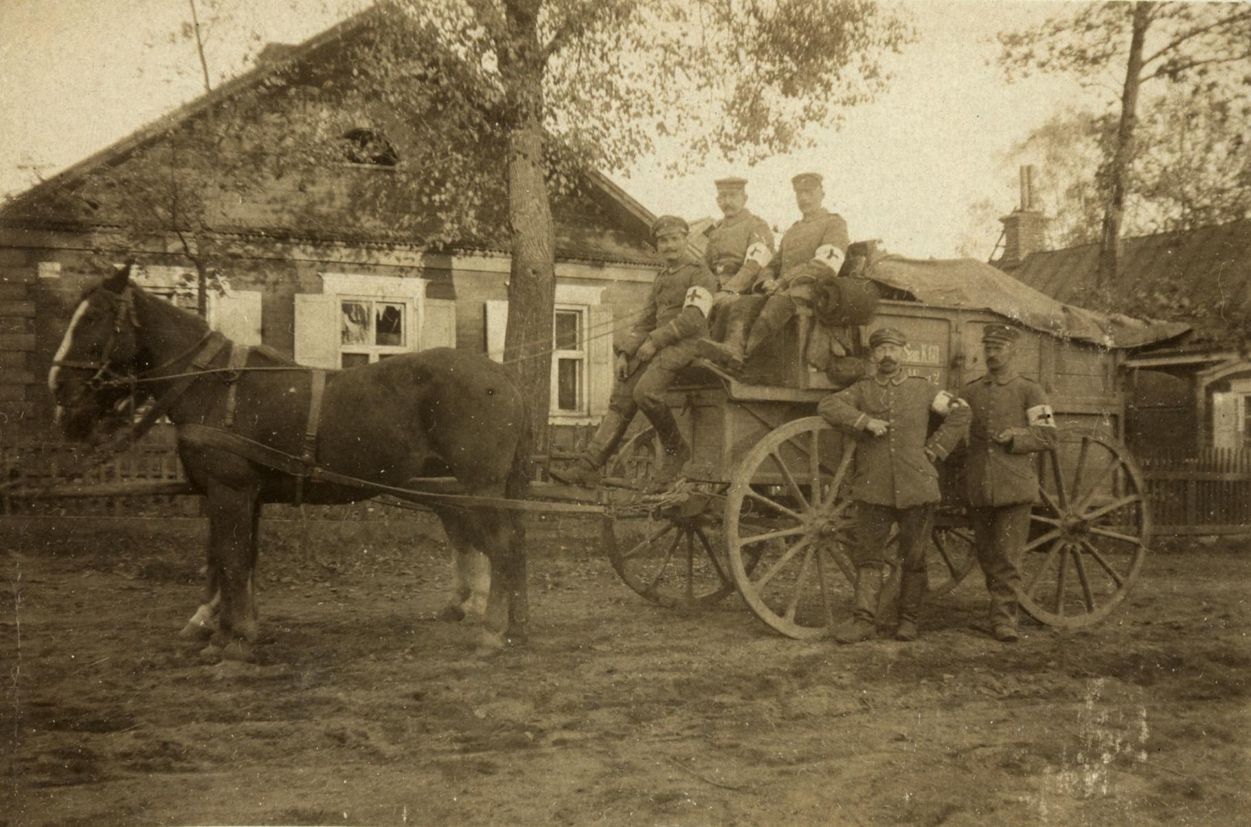 23. januar 1915. Hemming Skov på vej væk fra fronten
