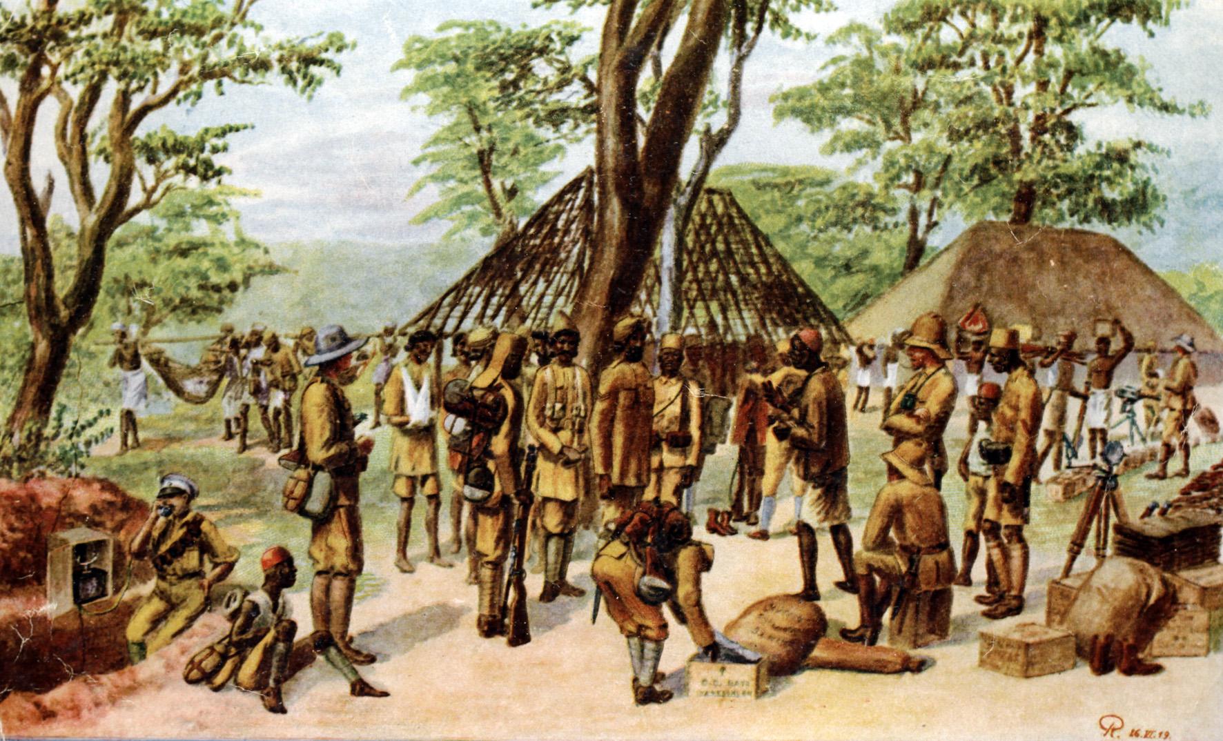 28. juli 1916. Østafrika: Forberedelser til en stor safari