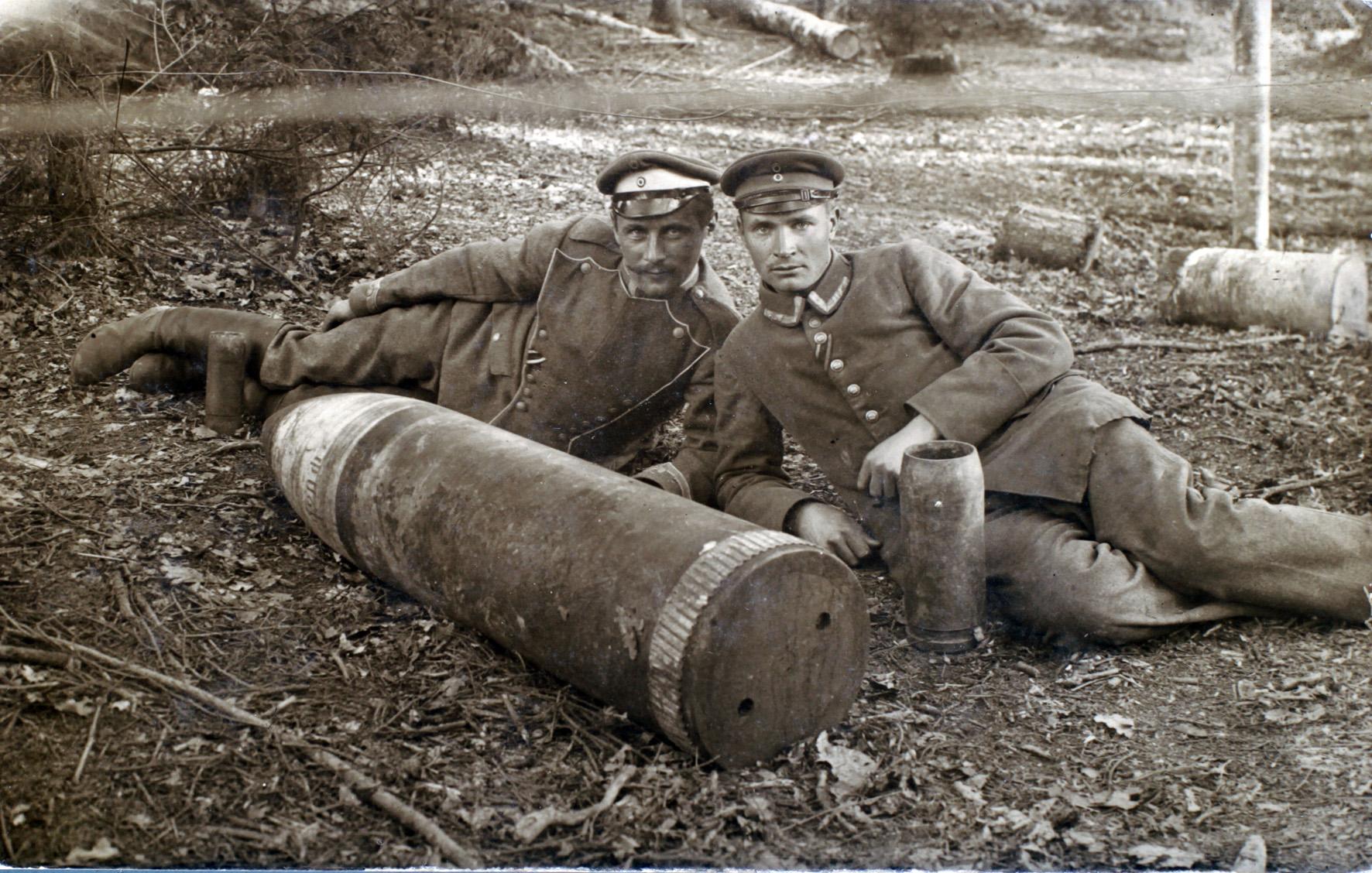 """10. februar 1917. """"Den nye stilling havde et mærkeligt, ja grotesk udseende"""""""