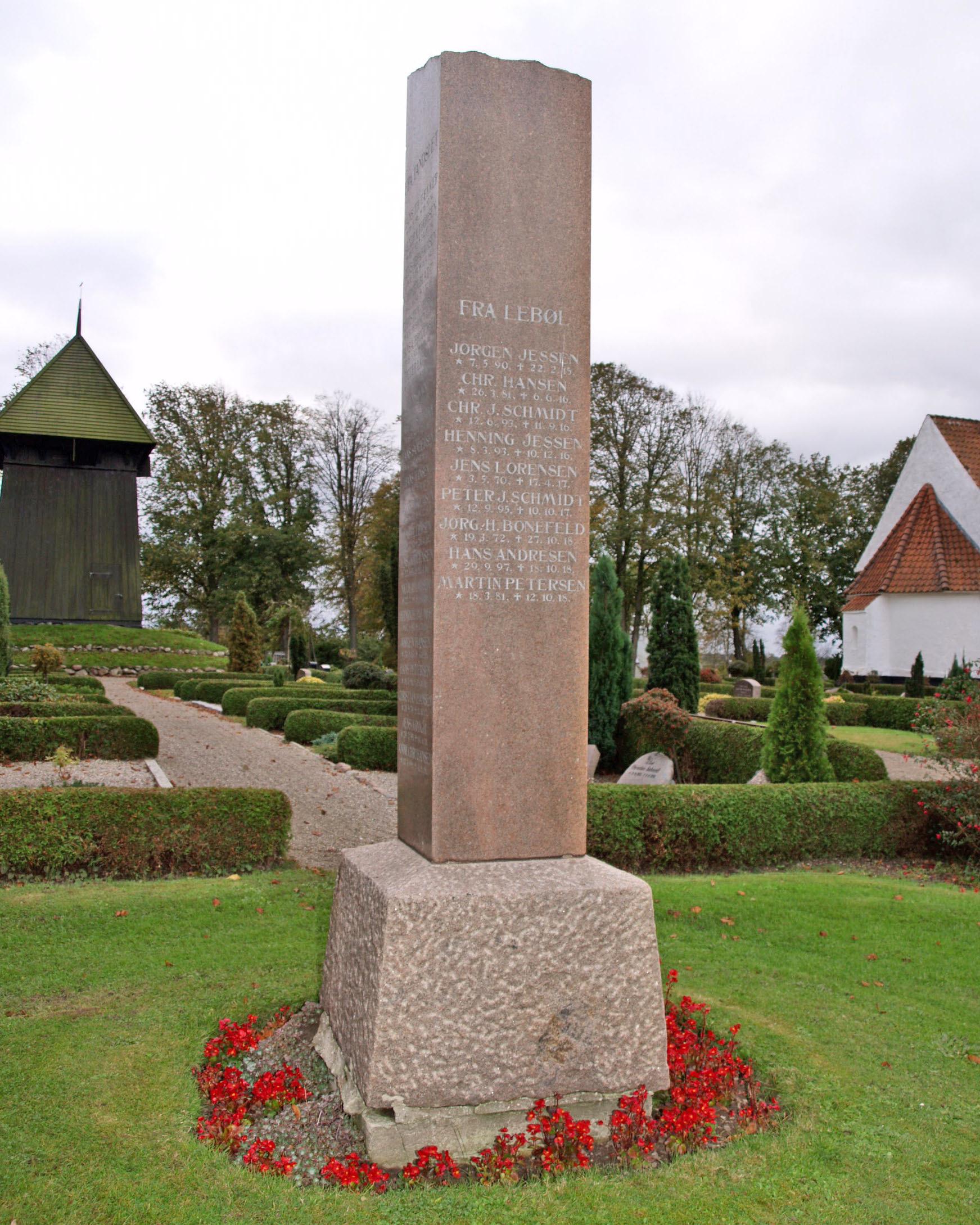 Mindesten, Tandslet Kirkegård