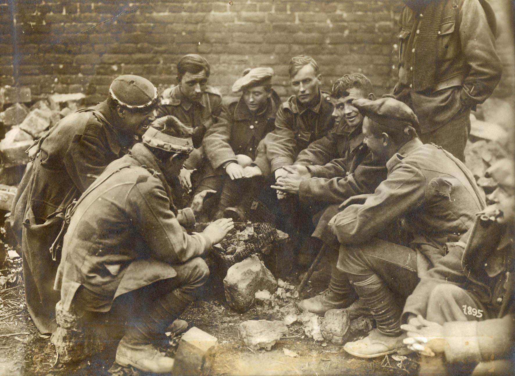12. april 1917. Th. Lorenzen ved Arras: De første engelske fanger