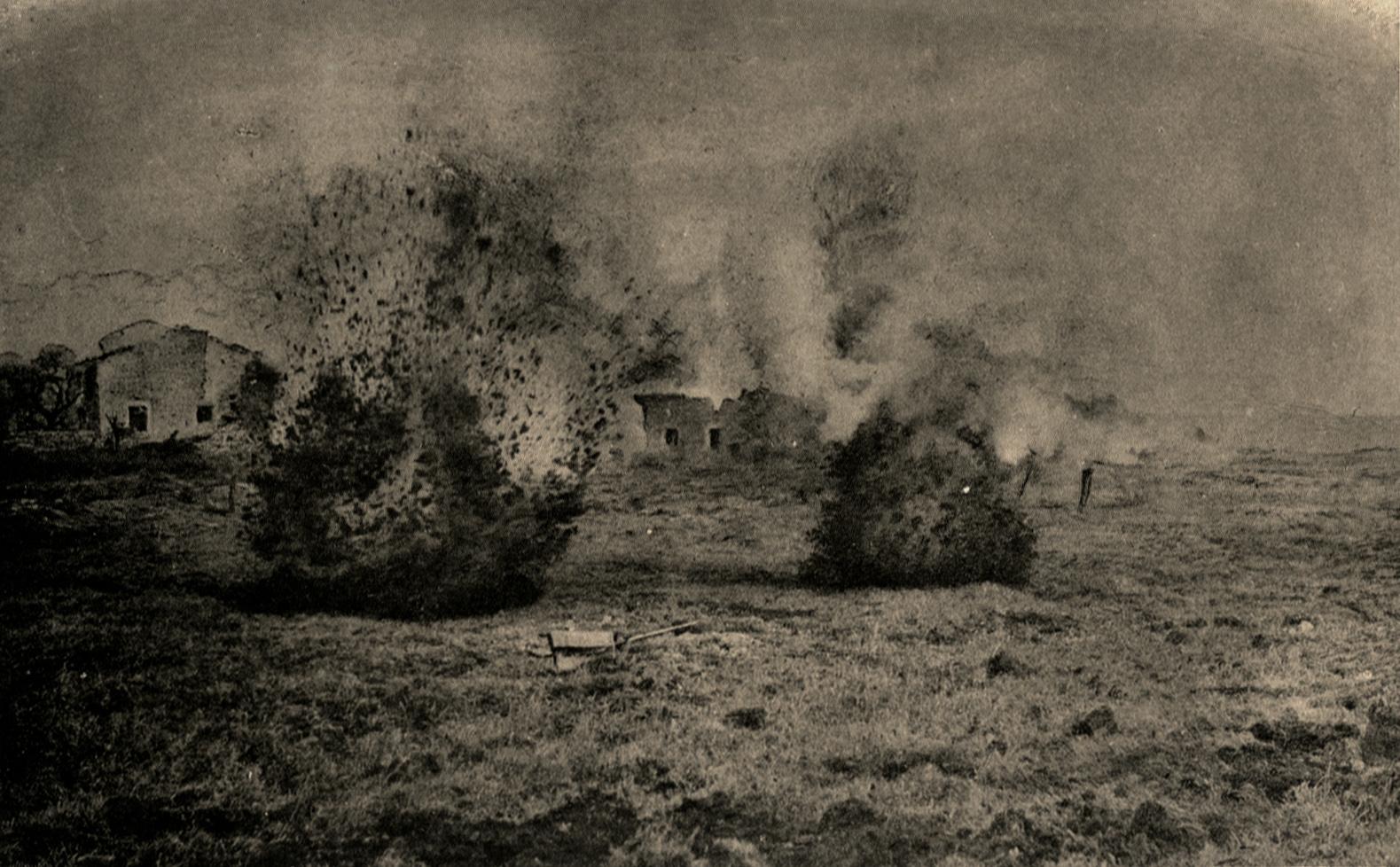 """26. juli 1916. Ved Arras: """"Det begyndte at regne med granater omkring os."""""""