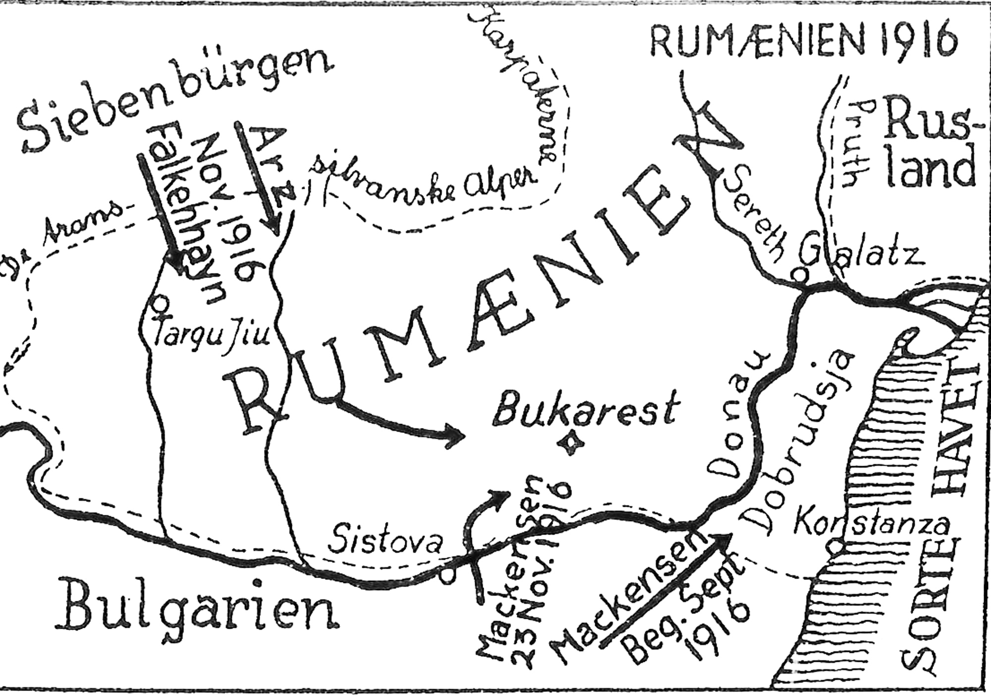 1. november 1916. Tastesen på march i Rumænien