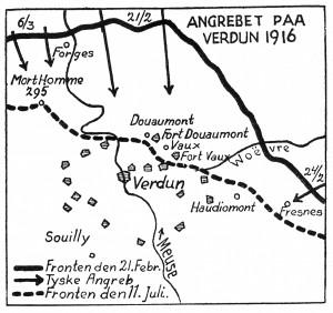 Den 21. februar blev den tyske offensiv ved Verdun indledt. Et enormt bombardement på et begrænset frontafsnit nord for Verdun og øst for floden Meuse skulle bane vejen for de tyske angrebstropper.
