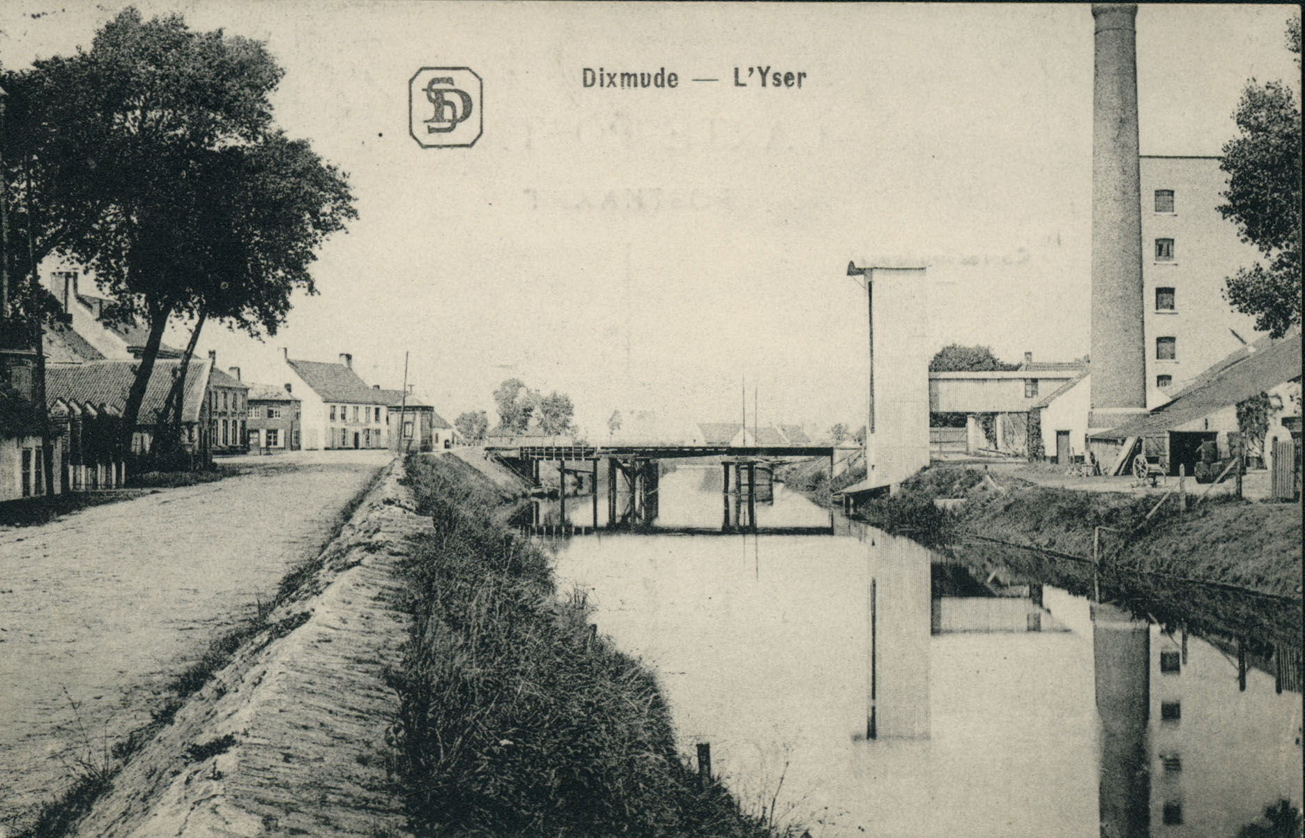 Under granatild ved Yser-kanalen