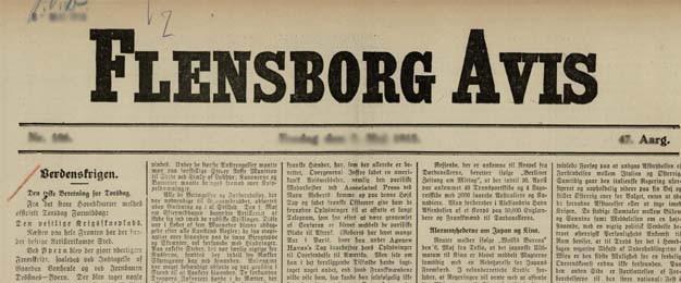 "30. juli 1915 – Flensborg Avis: ""Det sidste Brev"""