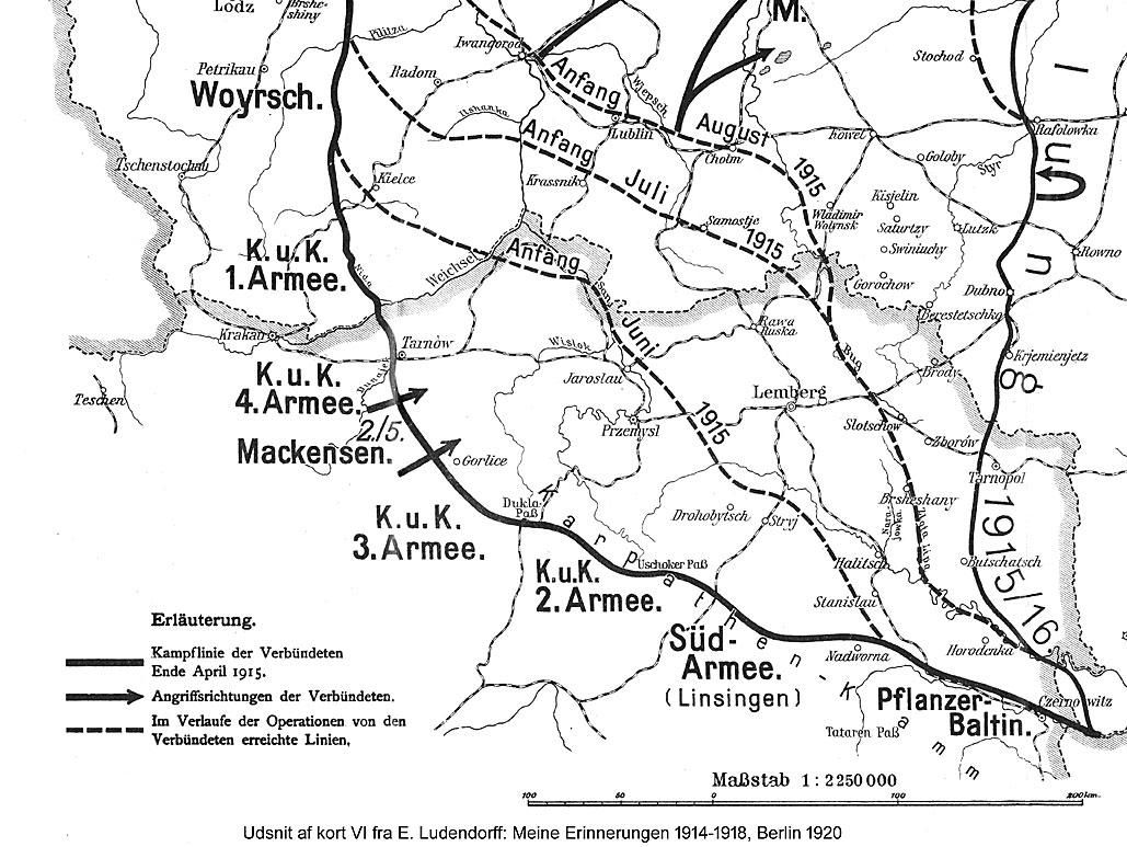 25. maj 1915: Overblik over månedens kampe på Østfronten