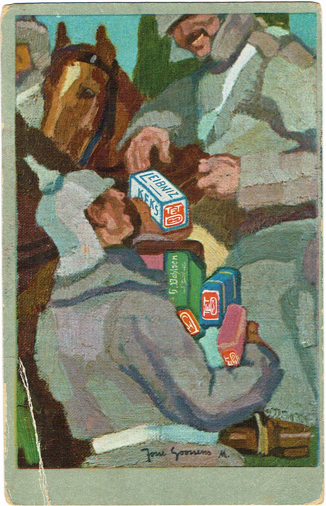 "15. september 1915. Feltpost til ""en lil goj dreng"" i Hønsnap"