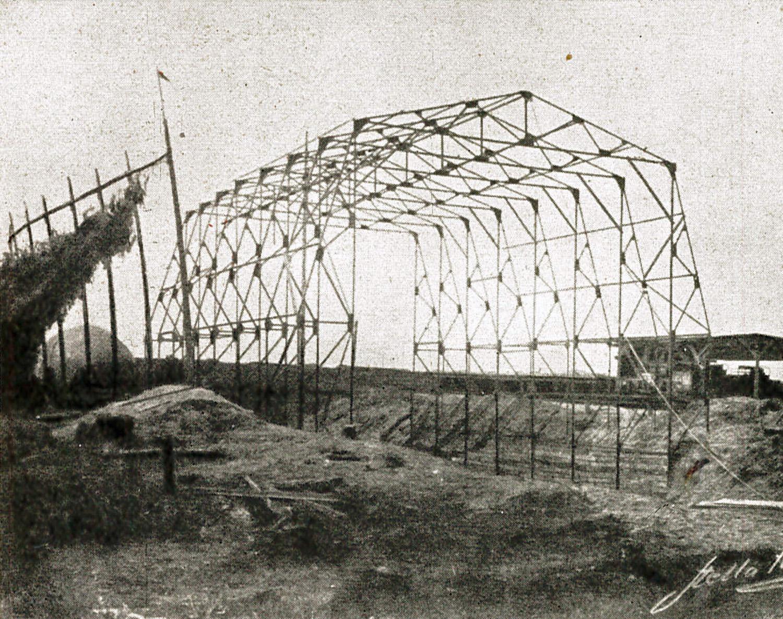 13. august 1917. A.P. Andersen bygger ballonhal i Frankrig