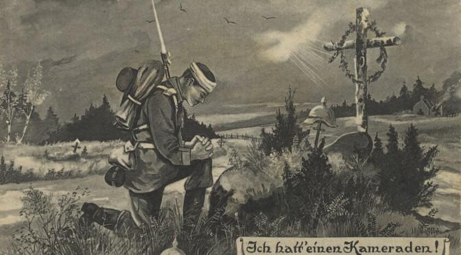 29. august 1916. Ved Verdun: En tysk kammerat begraves