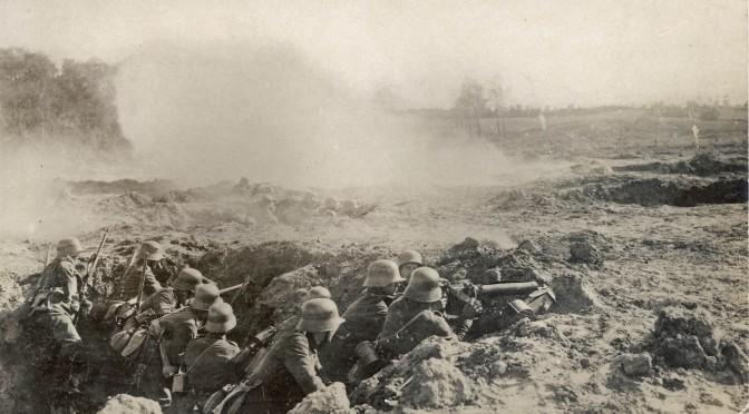 """6. april 1917. Langfredag: """"Derude hersker Død og Mord, Menneskers Ondskab."""""""