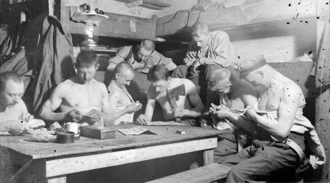 """15. november 1914. """"Vor Afdeling var paa 50 Mand, deriblandt ca. 20 dansktalende Nordslesvigere."""""""