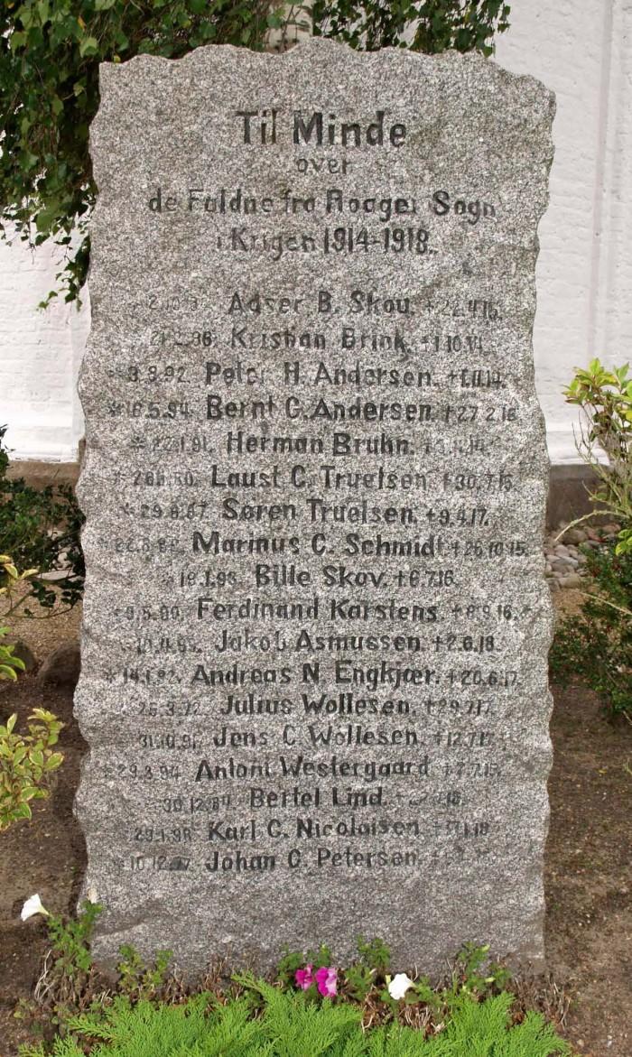 Mindesten, Roager Kirkegård