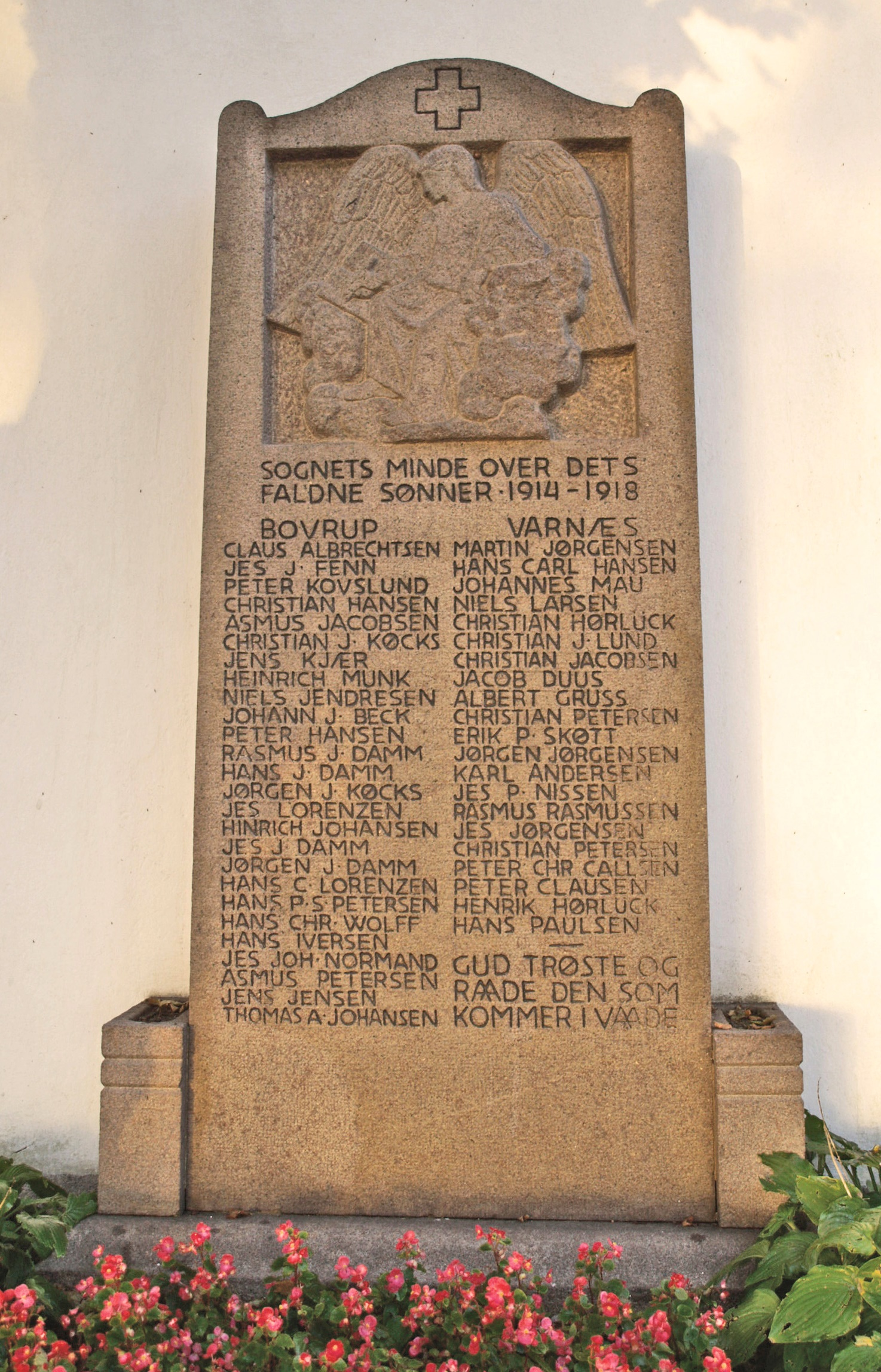 Mindesten, Varnæs Kirkegård