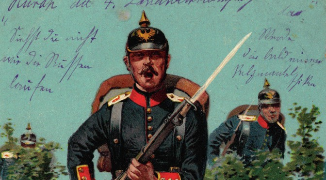 "12. september 1914. Landwehr Infanterie Regiment 84: ""Østpreussen befriet!"""