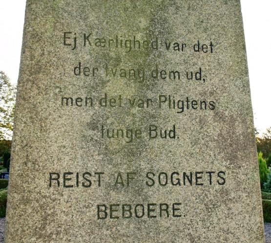Detalje af mindesten, Hammelev Kirkegård