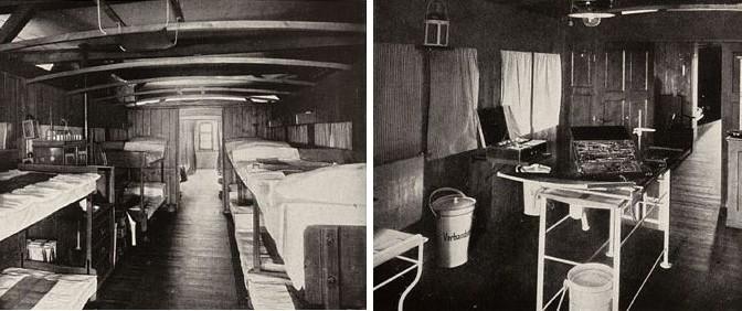 21. november 1916. K. Tastesen med lazarettog til Tyskland