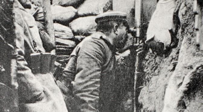 30. marts 1916. Natlig rutine i skyttegravene i Champagne