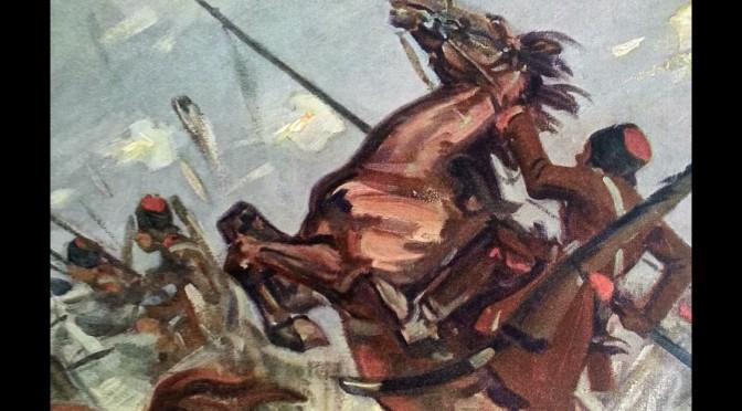1. august 1914. Kosakker! Patruljevirksomhed i øst.