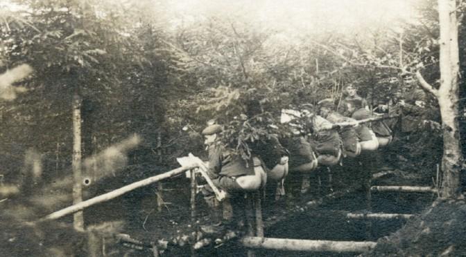 """20. januar 1916. """"Englænderne havde åbenbart morskab af at beskyde vore retirader …"""""""