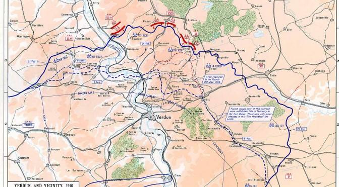 """10. april 1916: Franskmændene forsvarer sig hårdnakket ved Verdun – """"Fat mod, vi skal nok få dem!"""" lyder den franske general Pétains dagsbefaling"""
