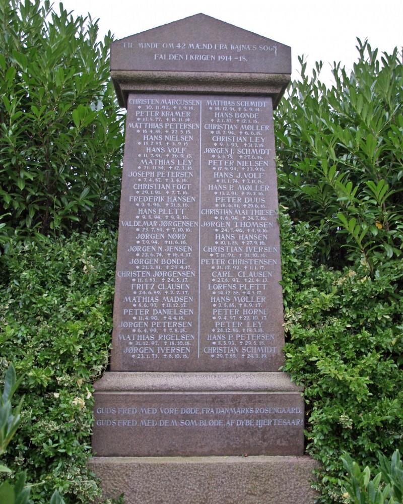 Mindesten, Kegnæs Kirkegård