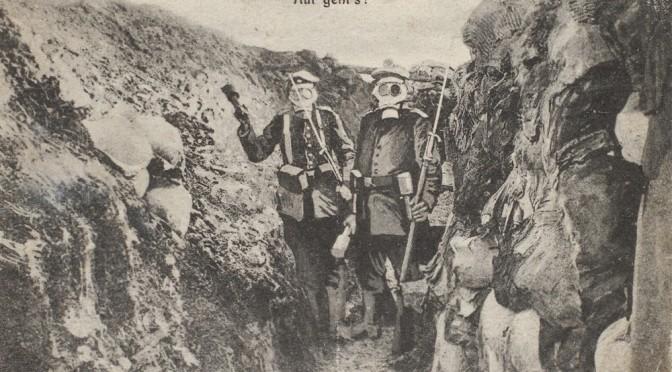 """28. marts 1917. Farligt naboskab: """"Englænderne og vi i hver sin Ende af Skyttegraven"""""""