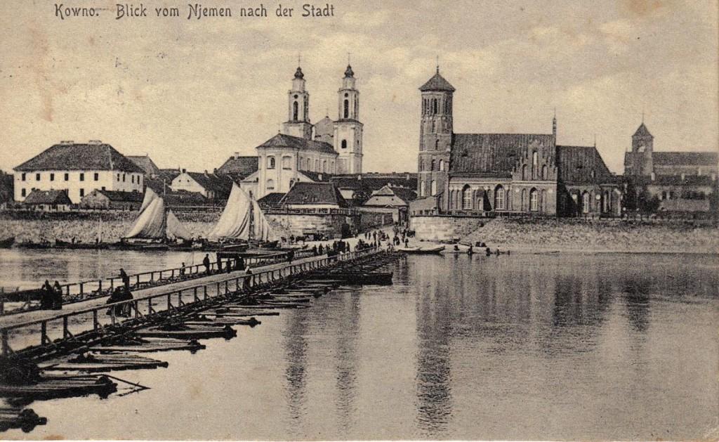 1916-02-26 LIR84 Otto Theodor Wagner - Kowno Blick vom Njemen nach der Stadt