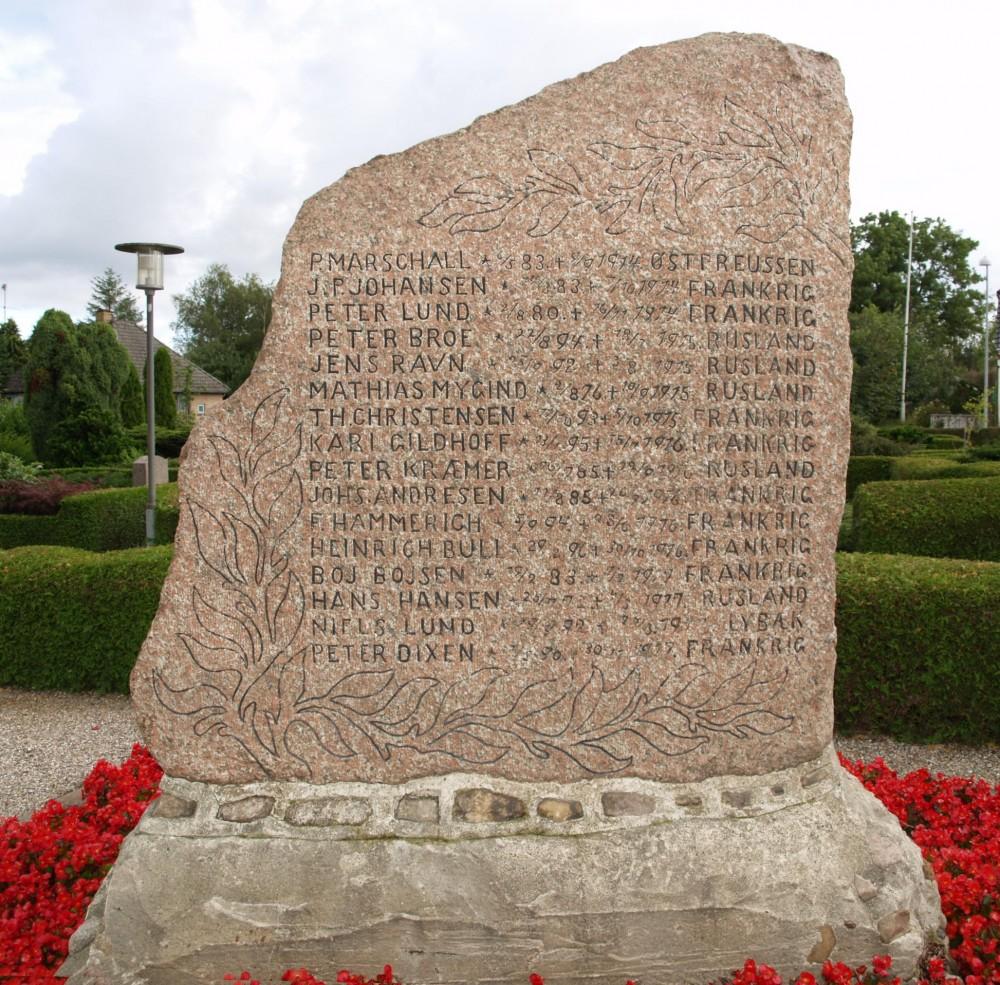 Mindesten, Øster Lindet Kirkegård
