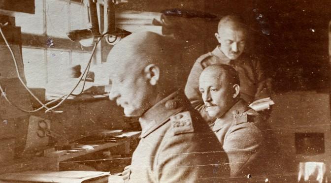 """11. oktober 1917. Ved Vauquois: """"vi har det saa hyggeligt her borte fra Officererne."""""""