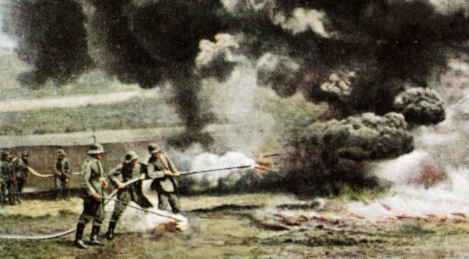 """29. juni 1916. Ved Verdun: """"… et forfærdeligt syn at se soldater blive brændt levende"""""""