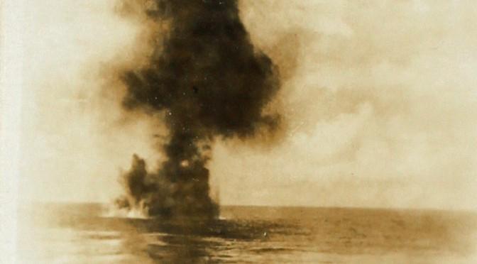 """17. juni 1916. På øvelse i Østersøen: """"De skyder derovre!"""" – """"Quatsch!"""""""