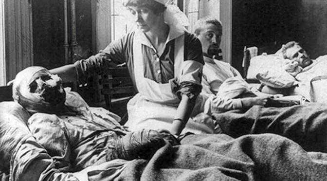 28. august 1917. Vagtmanden skød ind i flokken af fanger