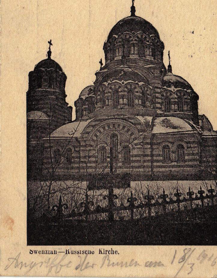 1916-03-30 LIR84 Otto Theodor Wagner - Swenziau - Russische Kirche