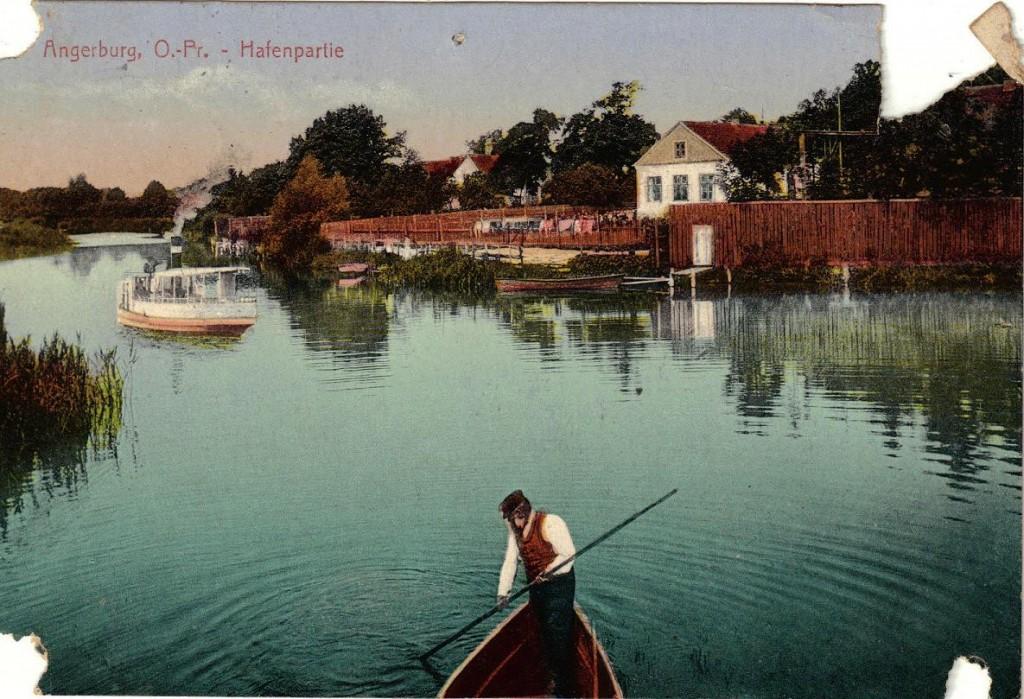 1916-04-07 LIR84 Otto Theodor Wagner - Angerburg. O. - Pr. - Hafenpartie